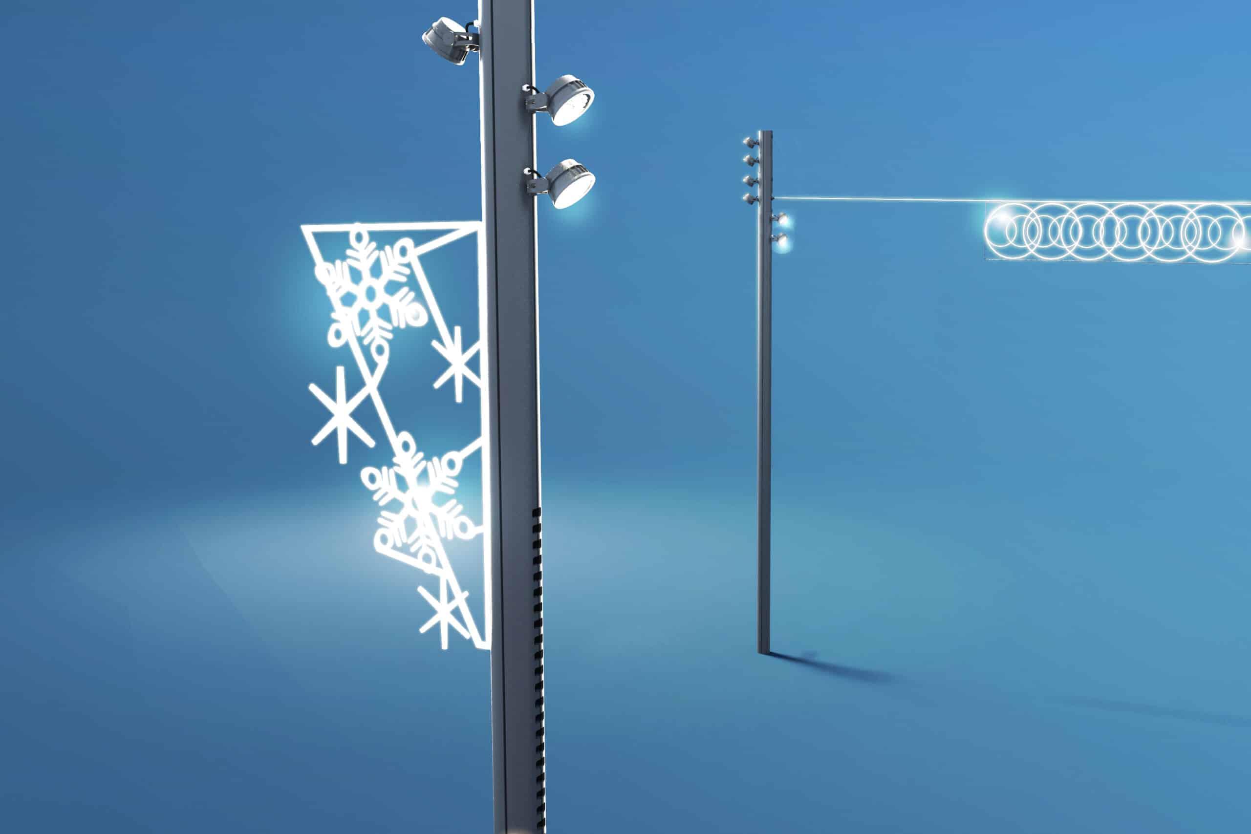 3D de l'accessoire Prise Illumination pour les décorations de Noël
